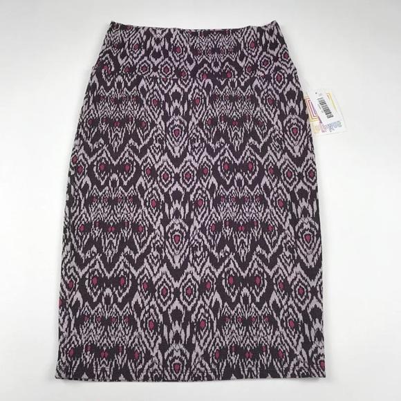 52dd5e5dffb18 NWT LuLaRoe Cassie Pencil Skirt Size XS Pink Brown